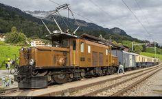 415 RhB - Rhätische Bahn Ge I at Saas im Prättigau, Switzerland by Georg Trüb Electric Locomotive, Steam Locomotive, Swiss Railways, Bahn, 40 Years, Switzerland, Journey, Europe, World