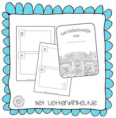 Het letterboekje om zelf te vullen   HET LETTERWINKELTJE