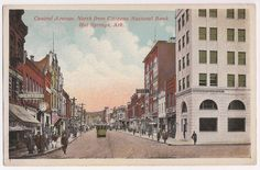 Hot Springs AR, antique downtown scene, Central Avenue, Citizens National Bank