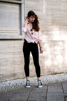 Plaid Shirt Skinny Jeans Converse – DACC