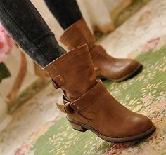 Vintage buckle booties
