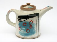 Wood fired stoneware teapot by Julie McWhirter, Edinbane Pottery