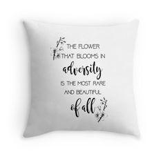 The Flower That Blooms- Mulan Throw Pillows