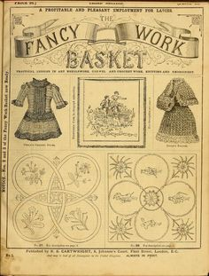 Mrs. Leach's fancy work basket...FREE vintage,archived book!