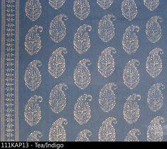 Peter Dunham linen print: kashmir paisley tea Indigo.jpg. for the chair pillows