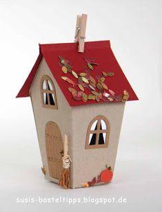 "Ein Haus für alle Fälle: Stampin' Up Framelits ""Zu Hause"" : Herbsthaus/ fall decoration with Stampin Up home sweet home dies"