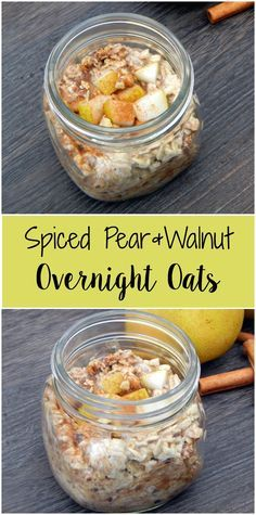 Spiced Pear and Walnut Overnight Oats                                                                                                                                                      More