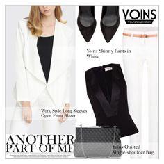 """Yoins8: Work Style"" by shambala-379 ❤ liked on Polyvore featuring Balenciaga, WorkWear, blackandwhite, Elegant and yoins"