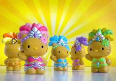 Hello Kitty Carnival/Showgirl Figurines