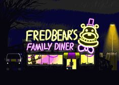 Fredbear's Family Diner, I don't know the year, outside view.