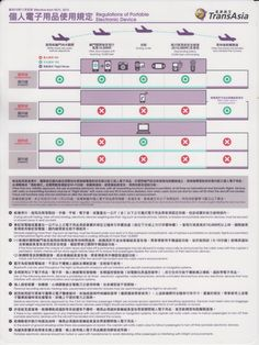 Safety Card  TransAsia Airways A321 (1) Regulations of Portable Electronic Device