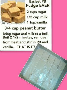 Easiest PB Fudge Ever:  It came out a little too sweet and just needs some Choclate too go with it! But If you make this Put It In The Freezer or Fridge Afterwards