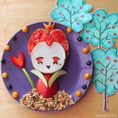 Una Bruja Piruja: Desayuno original: Reina de Corazones