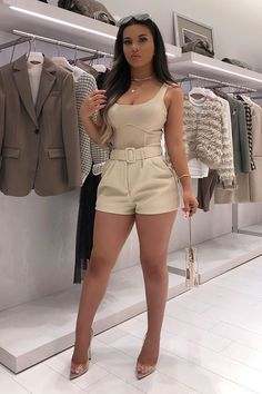 Nude Outfits, Boujee Outfits, Dressy Outfits, Short Outfits, Fashion Outfits, Casual Night Outfits, Fasion, Day Party Outfits, Classy Summer Outfits