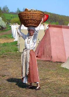 Slavic peasant woman costume XI c.Medieval russian costume. Created by Liza Fudim (Russia), 2009-2010.