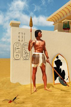 Snake Magic was an Ancient Egypt Memphite propitiation rite for protection. Ancient Egyptian Middle Kingdom Foot Soldier with typical equipm. Egyptian Weapons, Ancient Egyptian Women, Egyptian Temple, Mens Egyptian Costume, Kemet Egypt, Power Animal, Superhero Characters, Historical Pictures, Ancient History