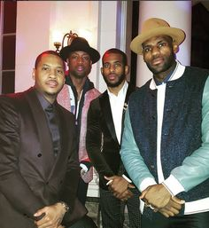 More NBA style from Carmelo Anthony, Dwyane Wade, Chris Paul and LeBron James