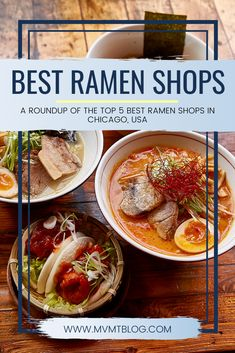We've rounded up a list of the best ramen in Chicago: top 5 ramen shops to visit right now. Click through to check out the list now, or pin for later! Student Travel, Group Travel, Chicago Travel, Usa Travel, Unique Recipes, Ethnic Recipes, Ramen Shop, Restaurant Guide, Food Tasting