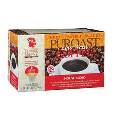 Puroast Low Acid Coffee, Single Serve House Blend (6 X 12 / .38 Oz) >>> You can get additional details at the image link. (This is an affiliate link and I receive a commission for the sales)