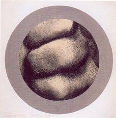 Baranyay András: Részlet egy kézből I. (1968, litográfia, 61 x 61 cm) December, Plates, Tableware, Licence Plates, Dishes, Dinnerware, Griddles, Tablewares, Dish