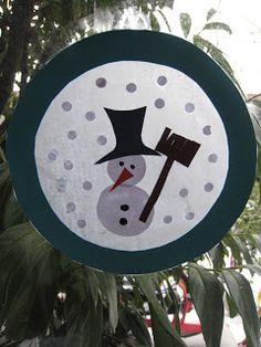 koeteren: Knutselen voor beginners: transparant sneeuwman