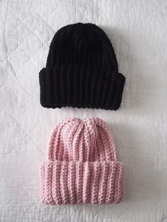 New Life: Diy beanie Sewing Projects For Beginners, Knitting Projects, Knitting Patterns, Crochet Patterns, Crochet Home, Diy Crochet, Knitting Accessories, Baby Knitting, Knitted Hats
