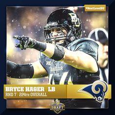 Bryce Hager is now a Saint Louis Ram. #SicEm #NextLevelBU