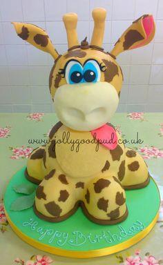 giraffe birthday cake from The Jolly Good Pud Company.  www.jollygoodpud.co.uk