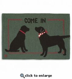 Come In Friends 2 X 3 Rug Hand Hooked Rugs Baby Puppies