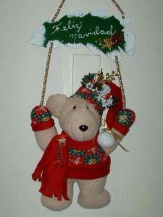 . Christmas Ornaments, Holiday Decor, Home Decor, Fabrics, Xmas, Bears, Decoration Home, Room Decor, Christmas Jewelry