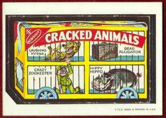 Cracked Animals - Wacky Packages 1967 Die Cuts