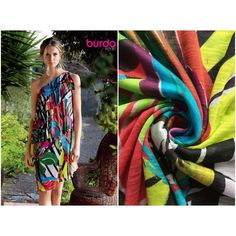 Kleiderstoff Burda Jersey gemustert Chf, Lily Pulitzer, Cover Up, Dresses, Style, Fashion, Scale Model, Vestidos, Swag