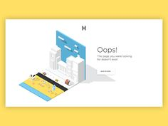 Oops 404 by Barthelemy Chalvet #Design Popular #Dribbble #shots
