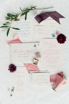 romantic wedding invitations - photo by Unique2Chic Photography http://ruffledblog.com/ethereal-atlanta-wedding-inspiration