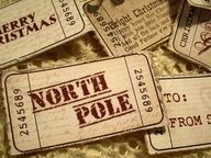 Printable vintage Christmas tickets... #ticket #printable #Christmas