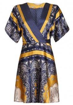 Mela - Robe d'été - blue/yellow