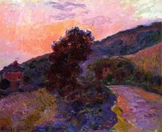 Claude Monet - Sunset at Giverny, 1886.