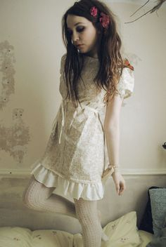 Cream Tea Dress by Flutterbydaisy on Etsy, $125.00
