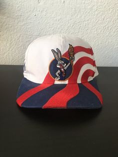 34e352d0a41 Vintage 90s Bugs Bunny USA Olympics Snapback Hat Cap by Starter Looney Tunes