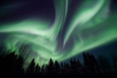 View the Northern lights at full intensity.