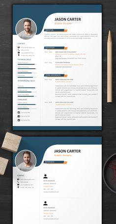 Modern Resume Template - resume - CV Template + Professional and Creative Resume Nursing Resume Template, Modern Resume Template, Creative Resume Templates, Resume Words, Resume Cv, Resume Layout, Resume Ideas, Resume Format, Free Resume