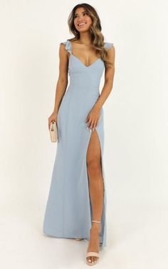 Light Blue Dresses Idea more than this dress in light blue Light Blue Dresses. Here is Light Blue Dresses Idea for you. Light Blue Dresses light blue patchwork lace bow draped off shoulder elegant midi dress. Simple Prom Dress, Cute Prom Dresses, Prom Outfits, Grad Dresses, Ball Dresses, Pretty Dresses, Wedding Dresses, Dresses To Wear To A Wedding As A Guest, Simple Formal Dresses