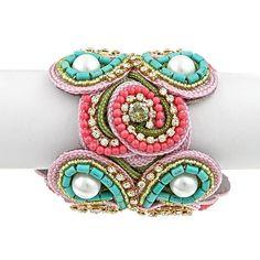 Beaded Cuff Bracelet...I'm in love!