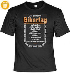 T-Shirt Motorrad - Der perfekte Biker Tag - Mit aufgedrucktem persönlichen Wunschnamen - Geschenk für Motorradfahrer - Schwarz, Größe:XL (*Partner-Link)