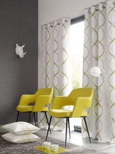 Collection Miami CasaDéco Pour les rideaux pas la couleur jaune ;)