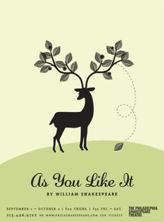 As You Like It - Philadelphia Shakespeare Theatre poster