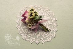 rose and anemone buttonhole by bloomsdayflowers, via Flickr