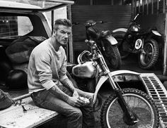 """i can haz beckham? *insert drool here glam-val: """" David Beckham by Josh Olins for Esquire UK, September """" Style David Beckham, Moda David Beckham, Tony Soprano, Victoria Beckham, Motos Vintage, Vintage Motorcycles, Don Corleone, Esquire Uk, Wow Photo"""