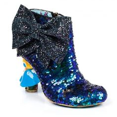 Irregular Choice Alice In Wonderland 2 4367-1B Who In The World Am I? Womens Character High Heel Boots - Blue