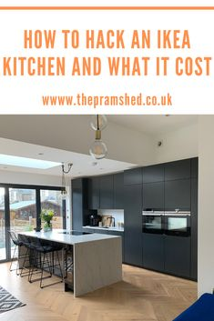 Last year we added a kitchen extension to our home and included a brand new kitchen. The kitchen is all built of IKEA carcasses with bespoke MDF door fronts sprayed in Farrow and Ball Off Black. Here's how we did it and what it cost.